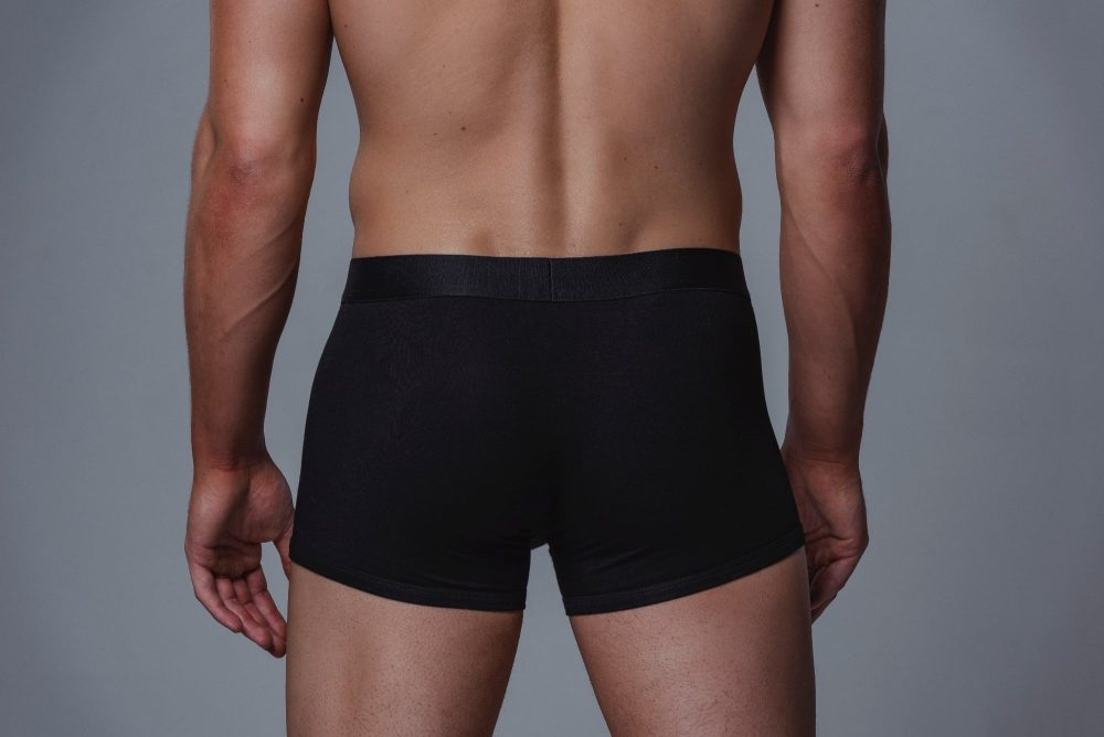 Package Men's Trunks in Black Back