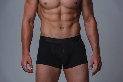 Package Men's Trunks in Black Front