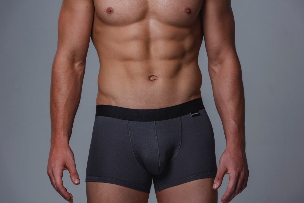Package Men's Trunks in Grey Front