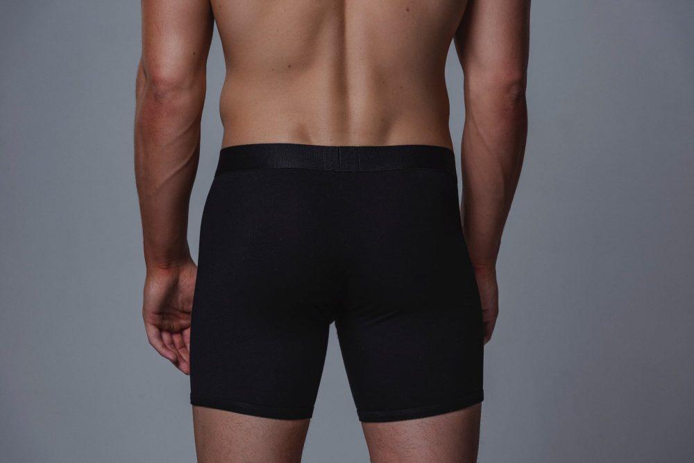 Package Men's 16cm Boxer Briefs in Black Back