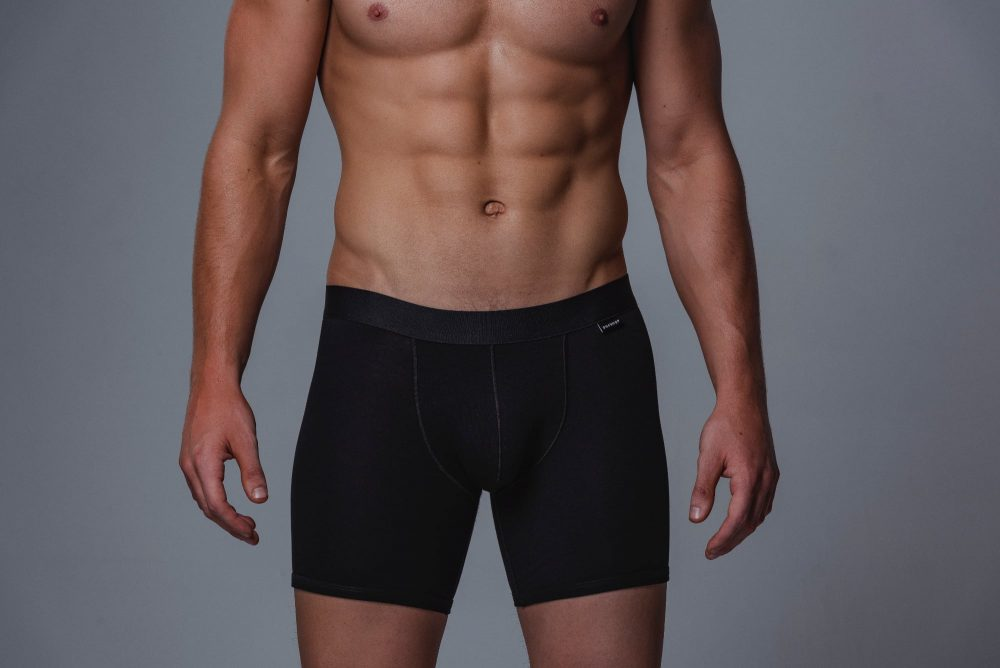 Package Men's 16cm Boxer Briefs in Black Front
