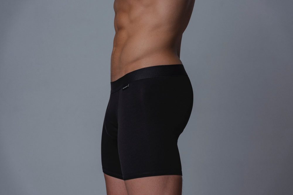 Package Men's 16cm Boxer Briefs in Black Side