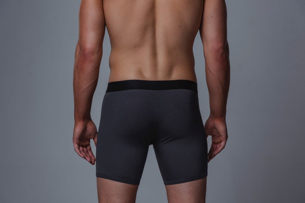 Package Men's 16cm Boxer Briefs in Grey Back