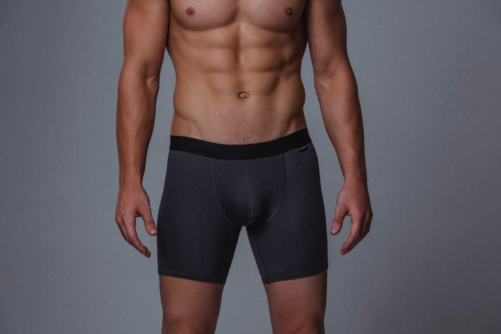 Package Men's 16cm Boxer Briefs in Grey Front