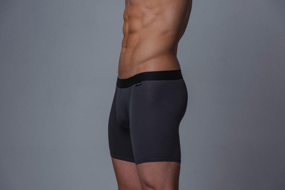 Package Men's 16cm Boxer Briefs in Grey Side