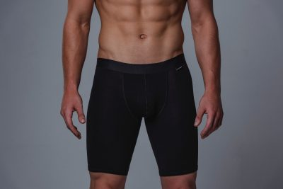 Package Men's 24cm Boxer Briefs in Black Front